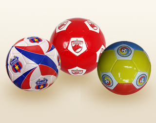 Examples of fan club soccer team balls