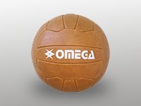 Retro old school style cow leather football soccer ball
